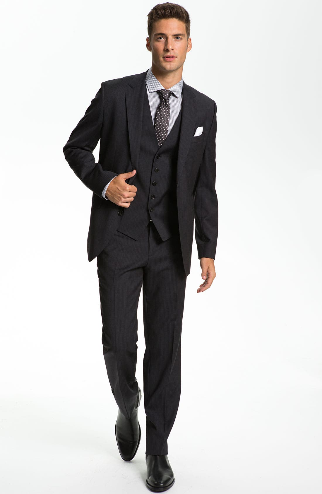 Alternate Image 2  - BOSS Black 'James/Sharp' Trim Fit Three Piece Suit