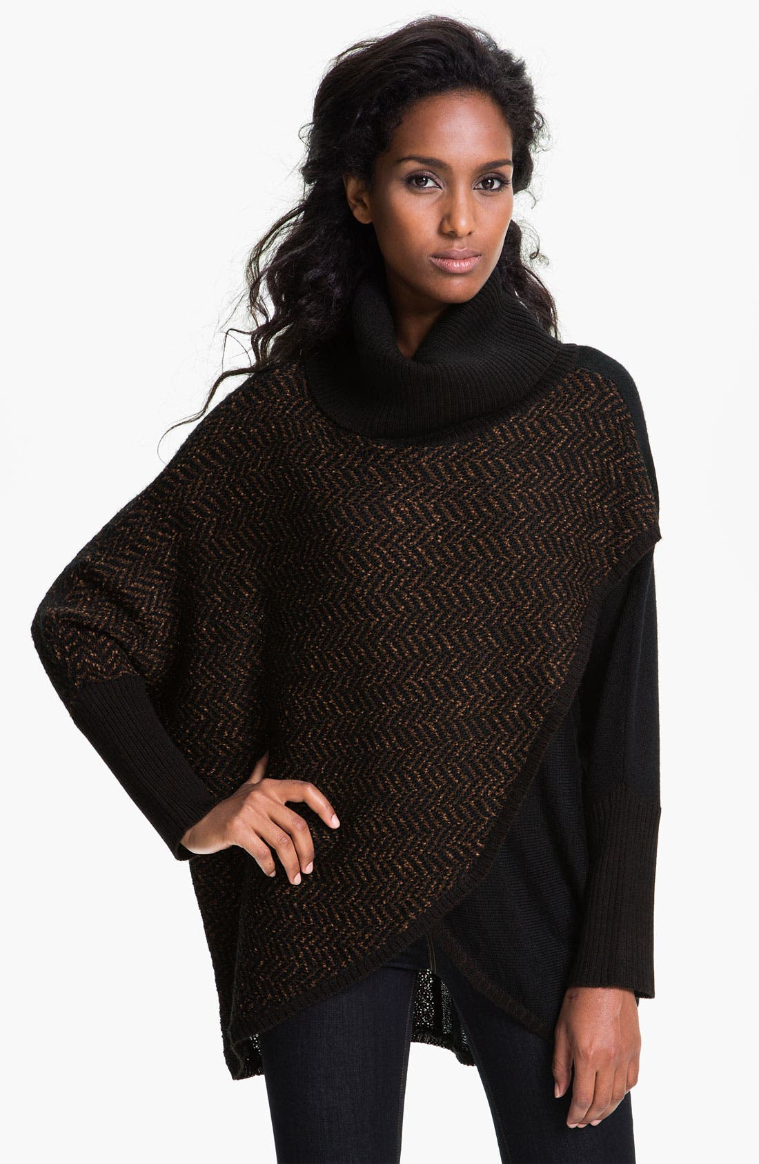 Alternate Image 1 Selected - Curio Faux Wrap Turtleneck Sweater