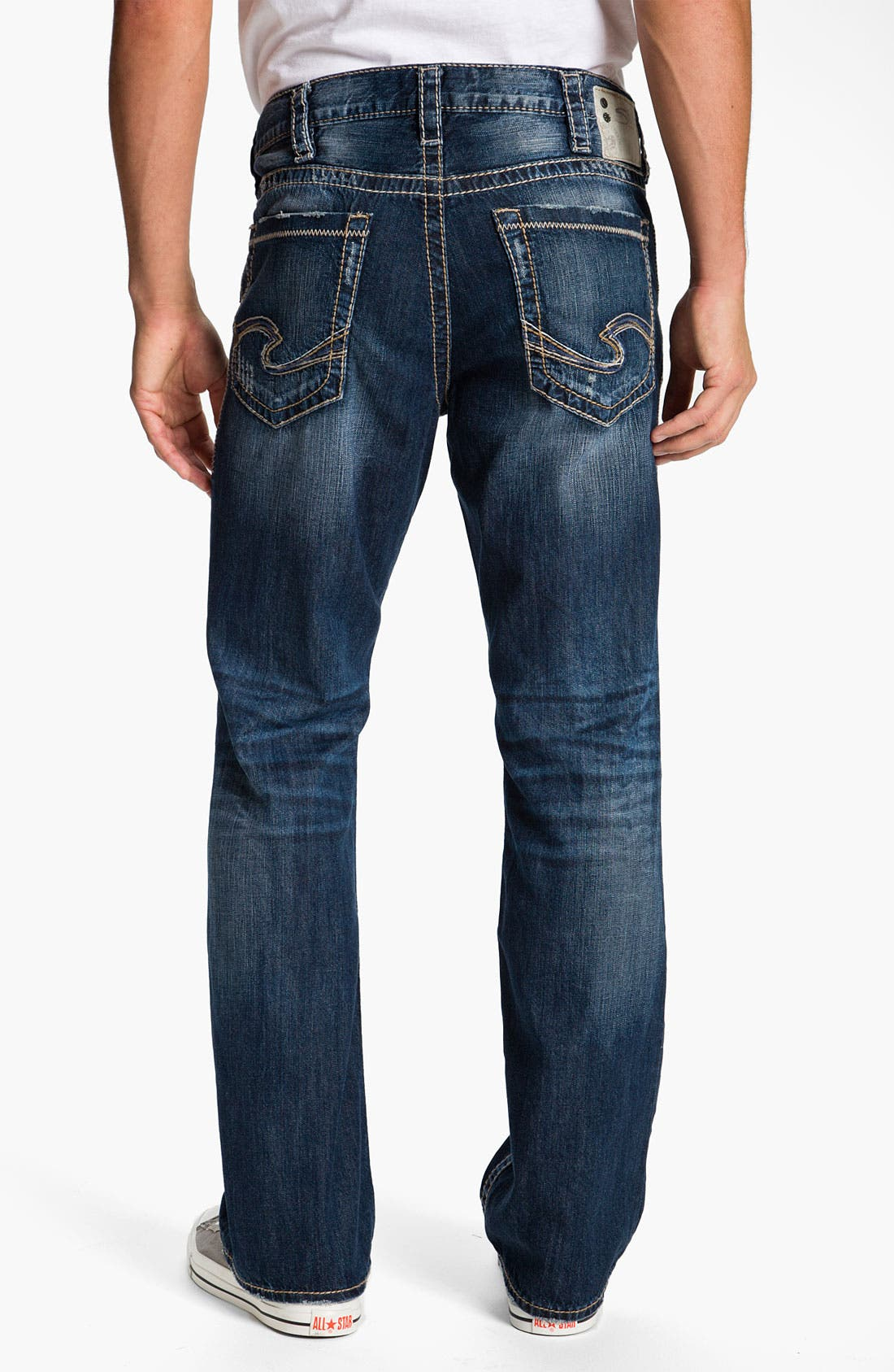 Alternate Image 1 Selected - Silver Jeans Co. 'Grayson' Bootcut Jeans (Indigo)