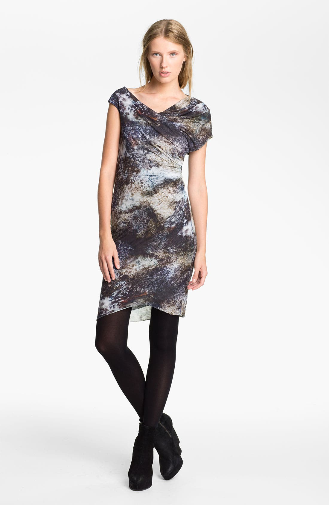 Alternate Image 1 Selected - Helmut Lang 'Oxide Print' Twisted Dress
