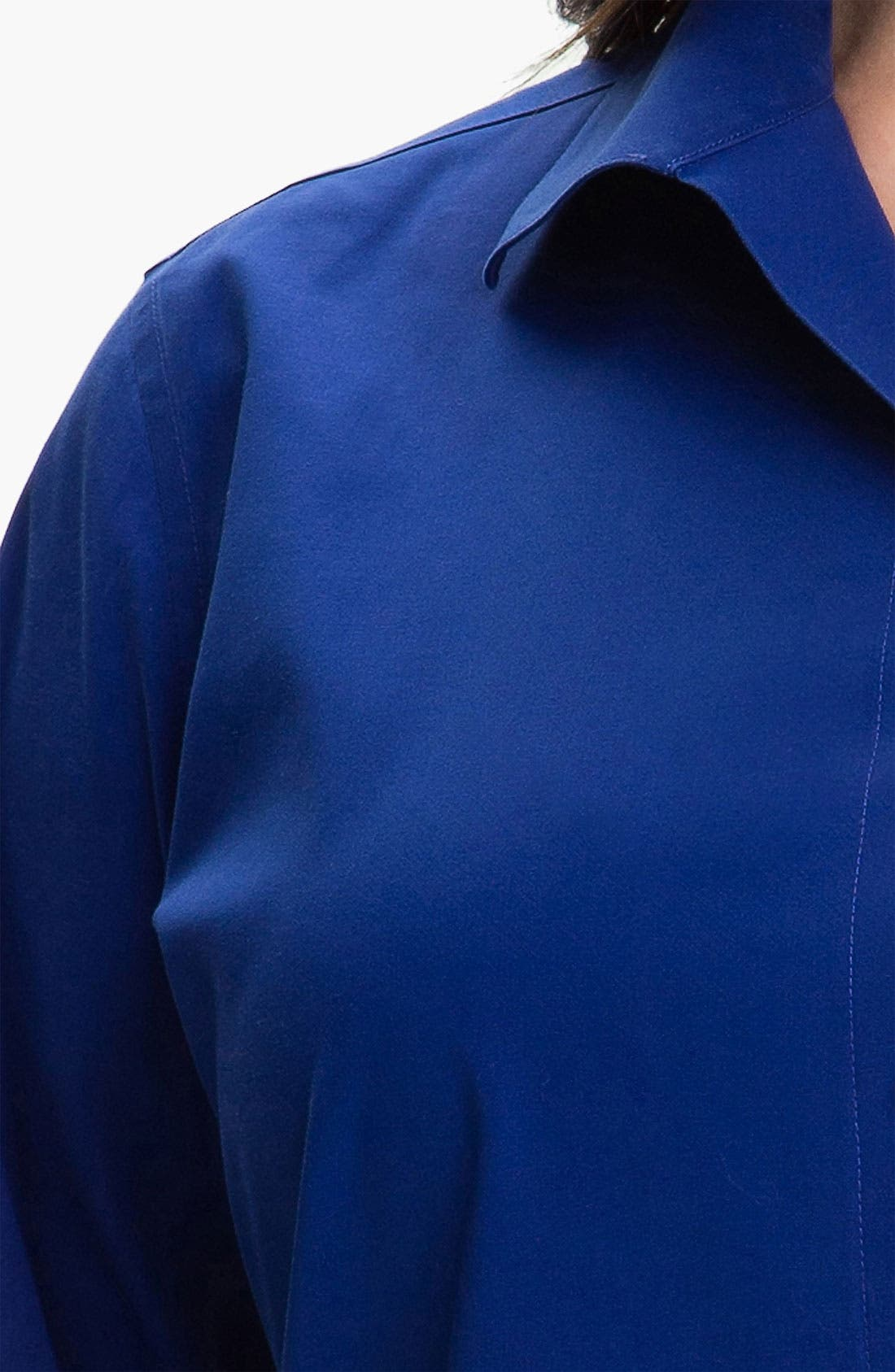 Alternate Image 3  - Foxcroft Wing Collar Shaped Shirt (Plus)