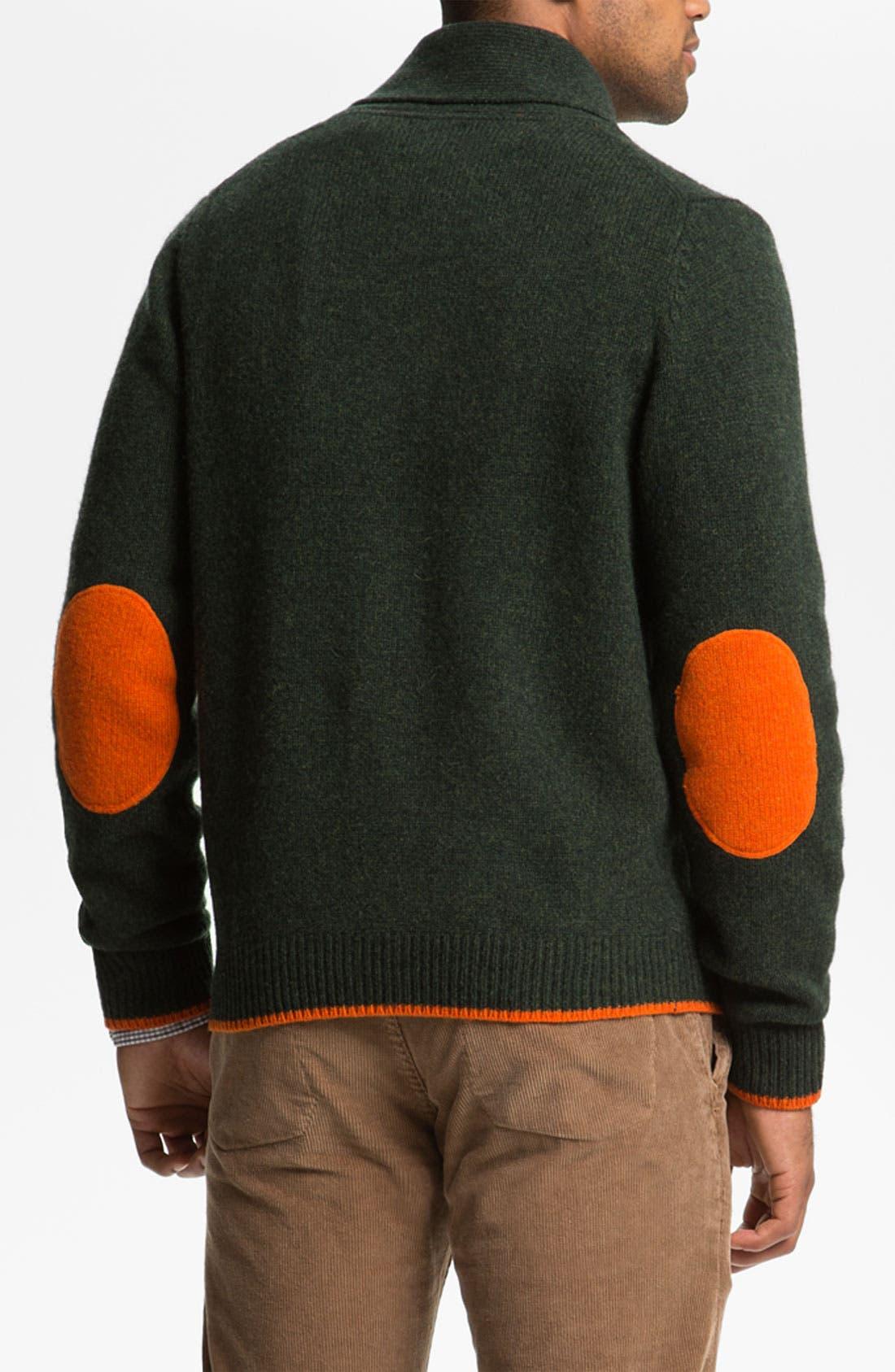 Alternate Image 2  - Brooks Brothers Shawl Collar Wool Cardigan