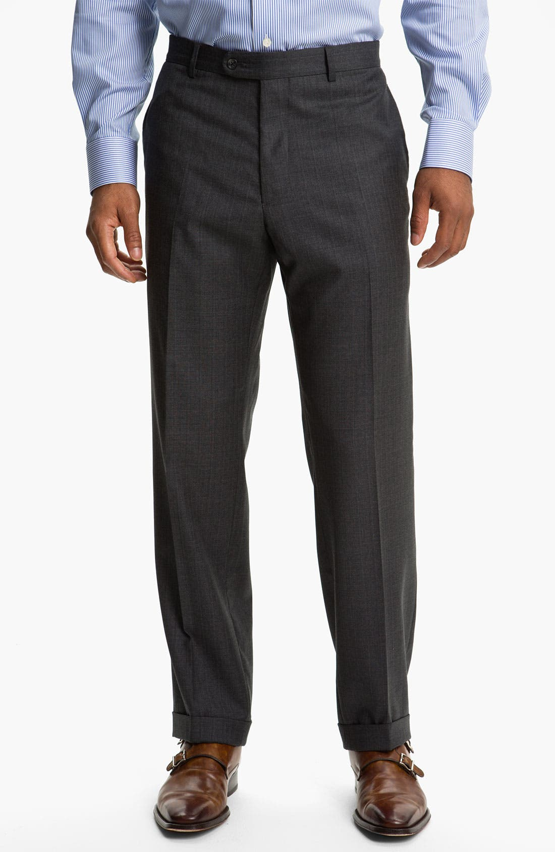 Alternate Image 4  - Joseph Abboud 'Profile' Double Breasted Wool Suit