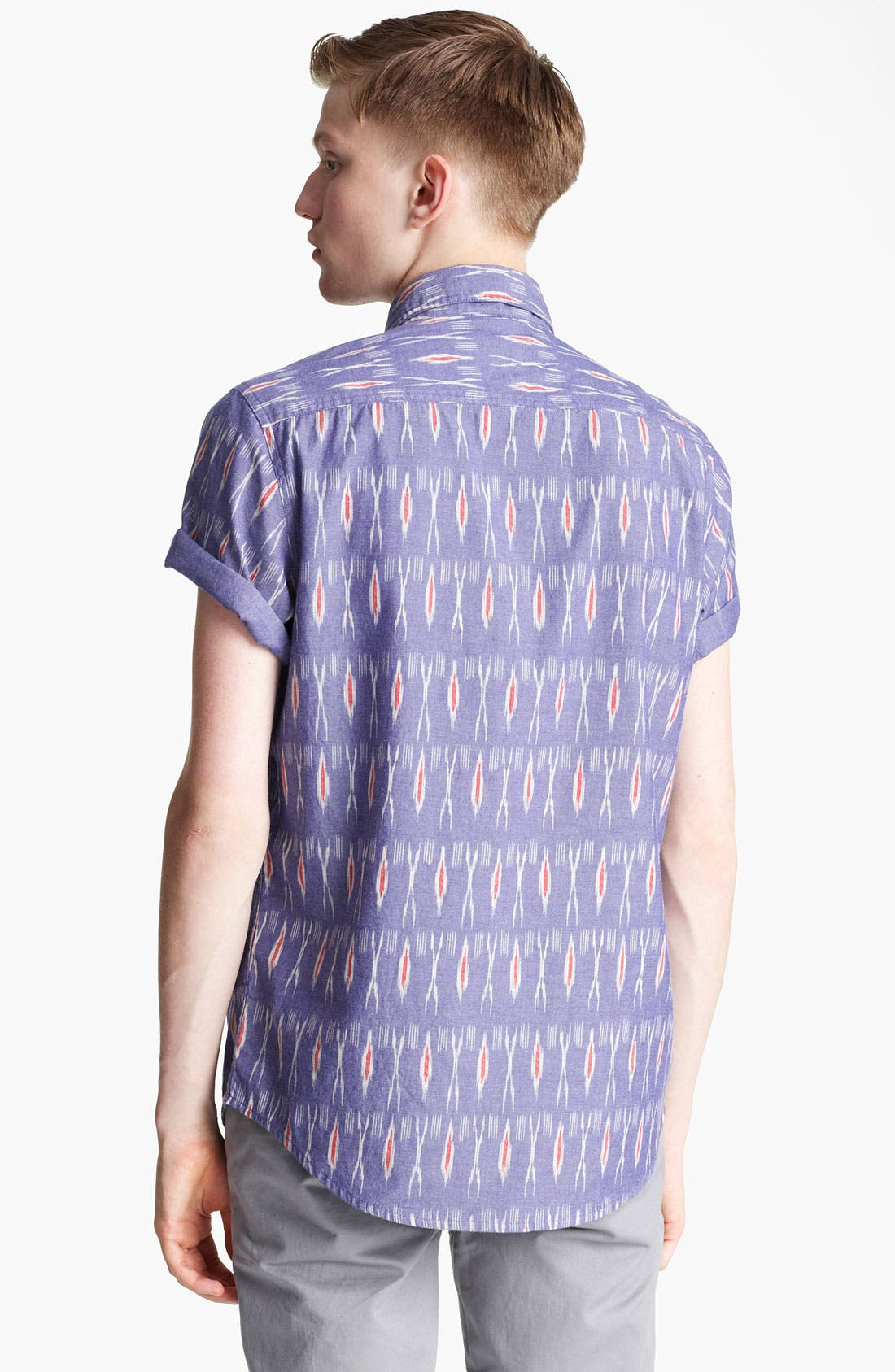 Alternate Image 2  - Topman 'High Roller' Ikat Pattern Shirt