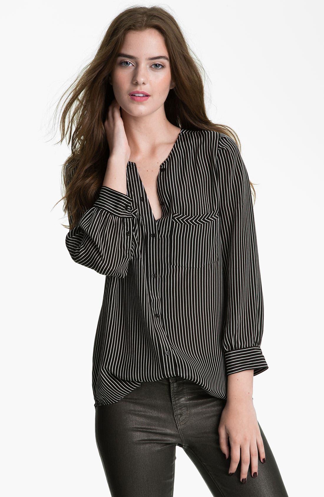 Alternate Image 1 Selected - Joie 'Clarita' Stripe Silk Blouse