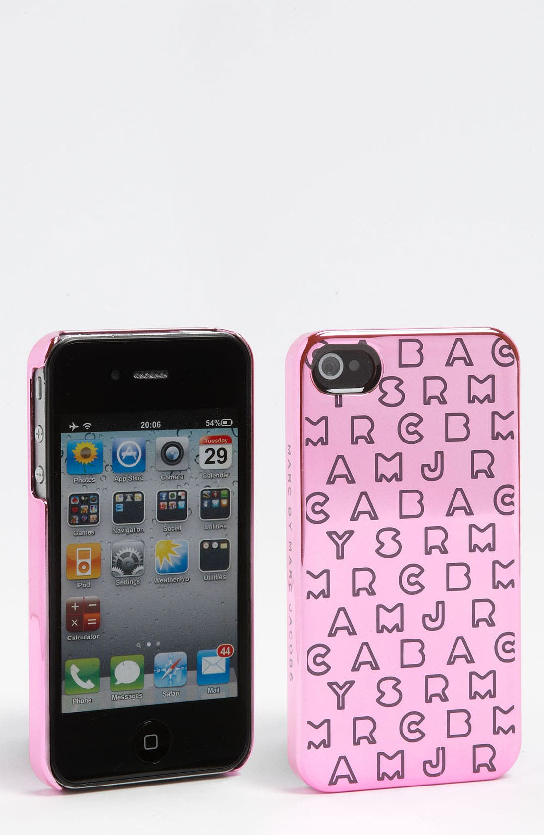 Main Image - MARC BY MARC JACOBS 'Dreamy Logo' Metallic iPhone 4 Case