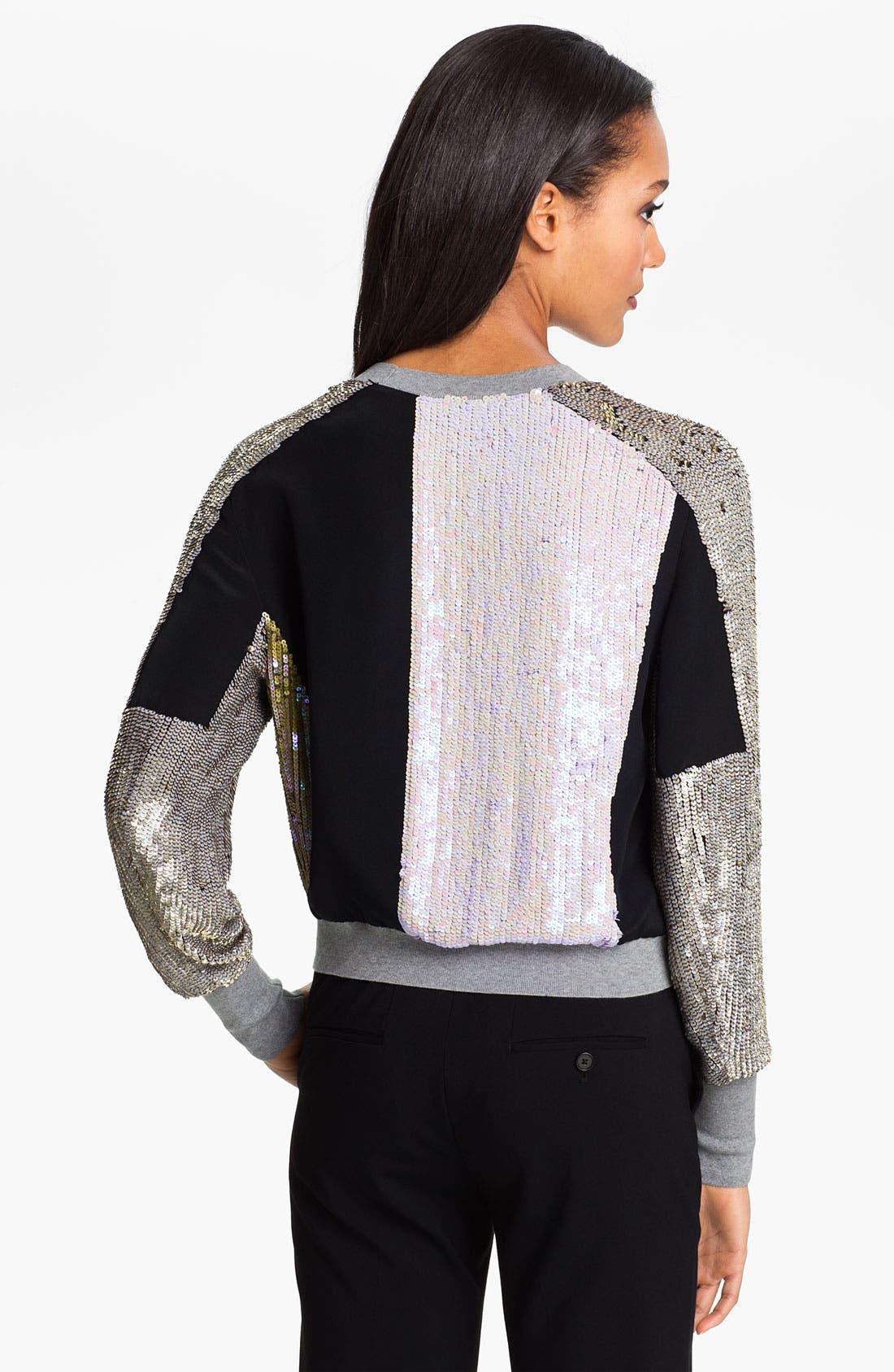 Alternate Image 2  - 3.1 Phillip Lim Patchwork Sequin Sweater