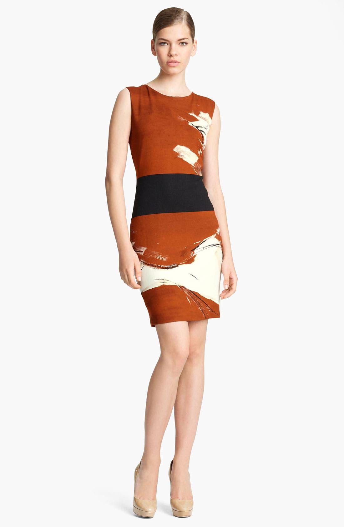 Main Image - Max Mara 'Bosco' Brushstroke Crepe Dress
