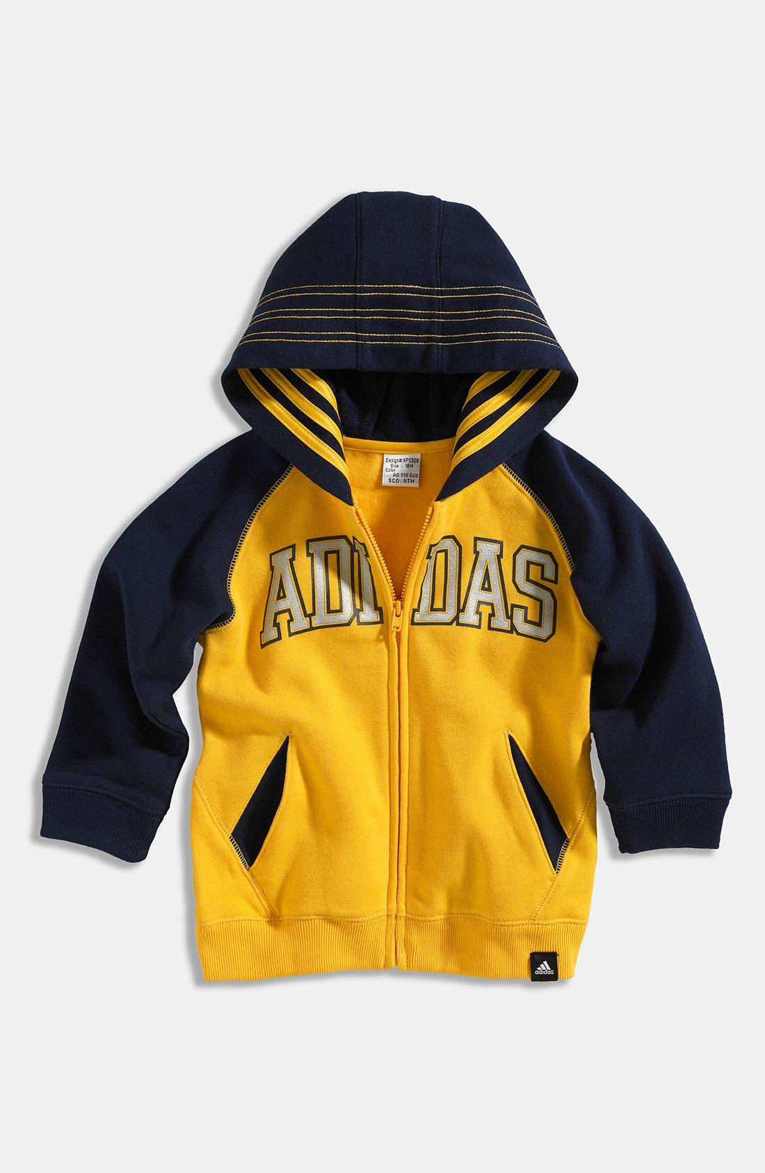 Alternate Image 1 Selected - adidas Logo Hoodie (Toddler)