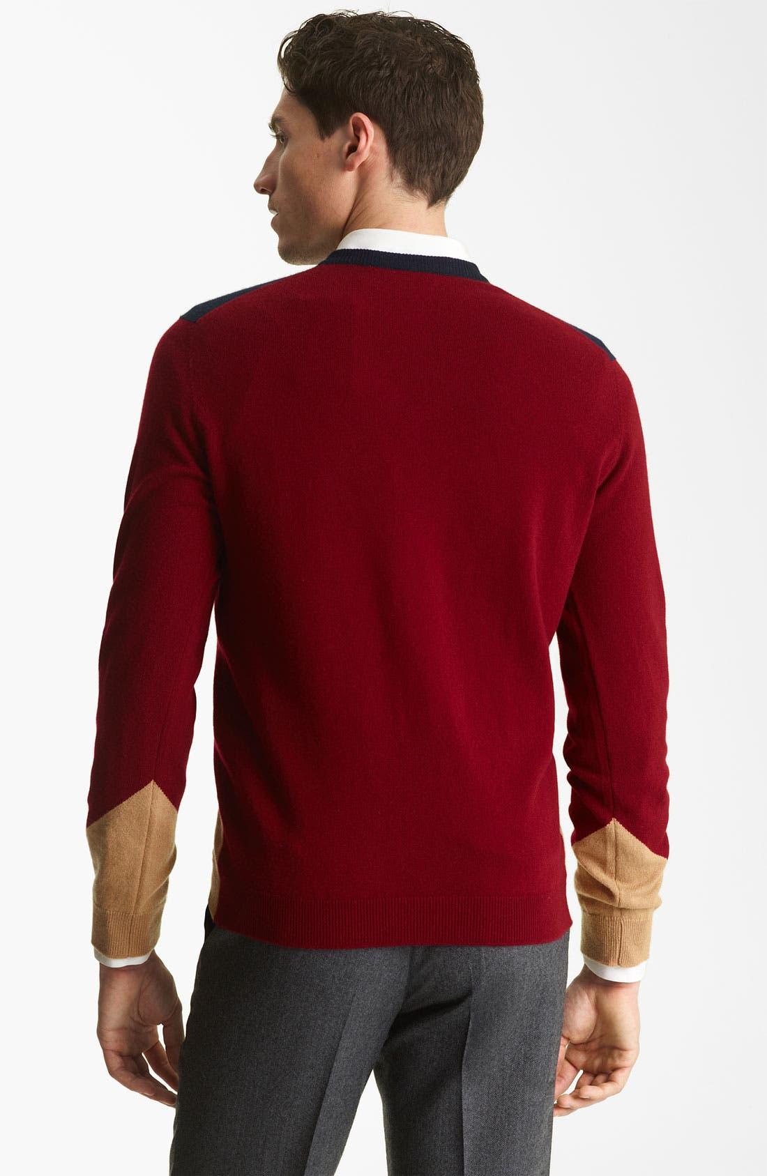 Alternate Image 2  - Pringle of Scotland Argyle V-Neck Cashmere Sweater