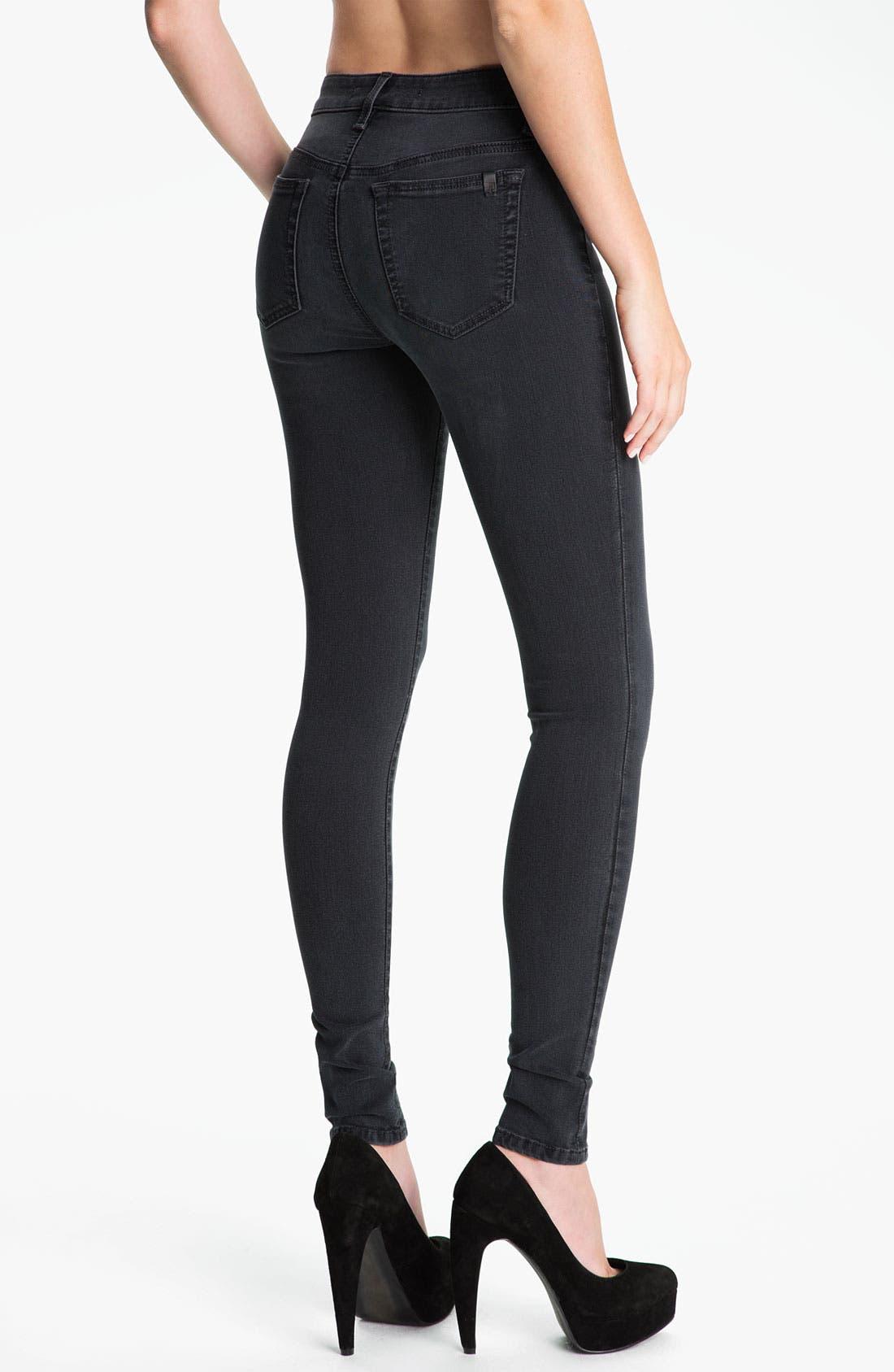 Alternate Image 2  - Joe's Skinny Stretch Jeans (Black)