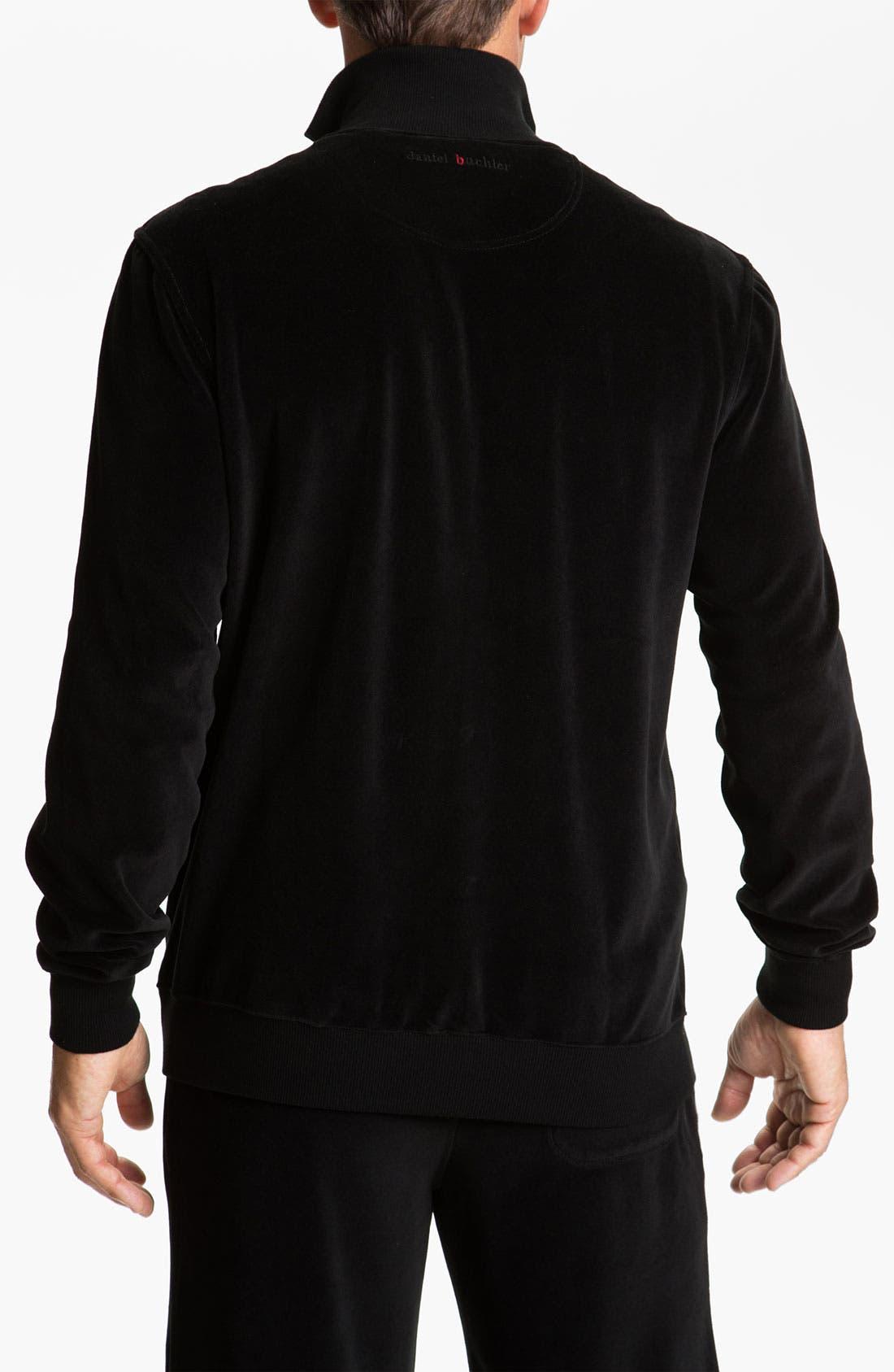 Alternate Image 2  - Daniel Buchler 'Deluxe' Yarn-Dyed Velour Track Jacket