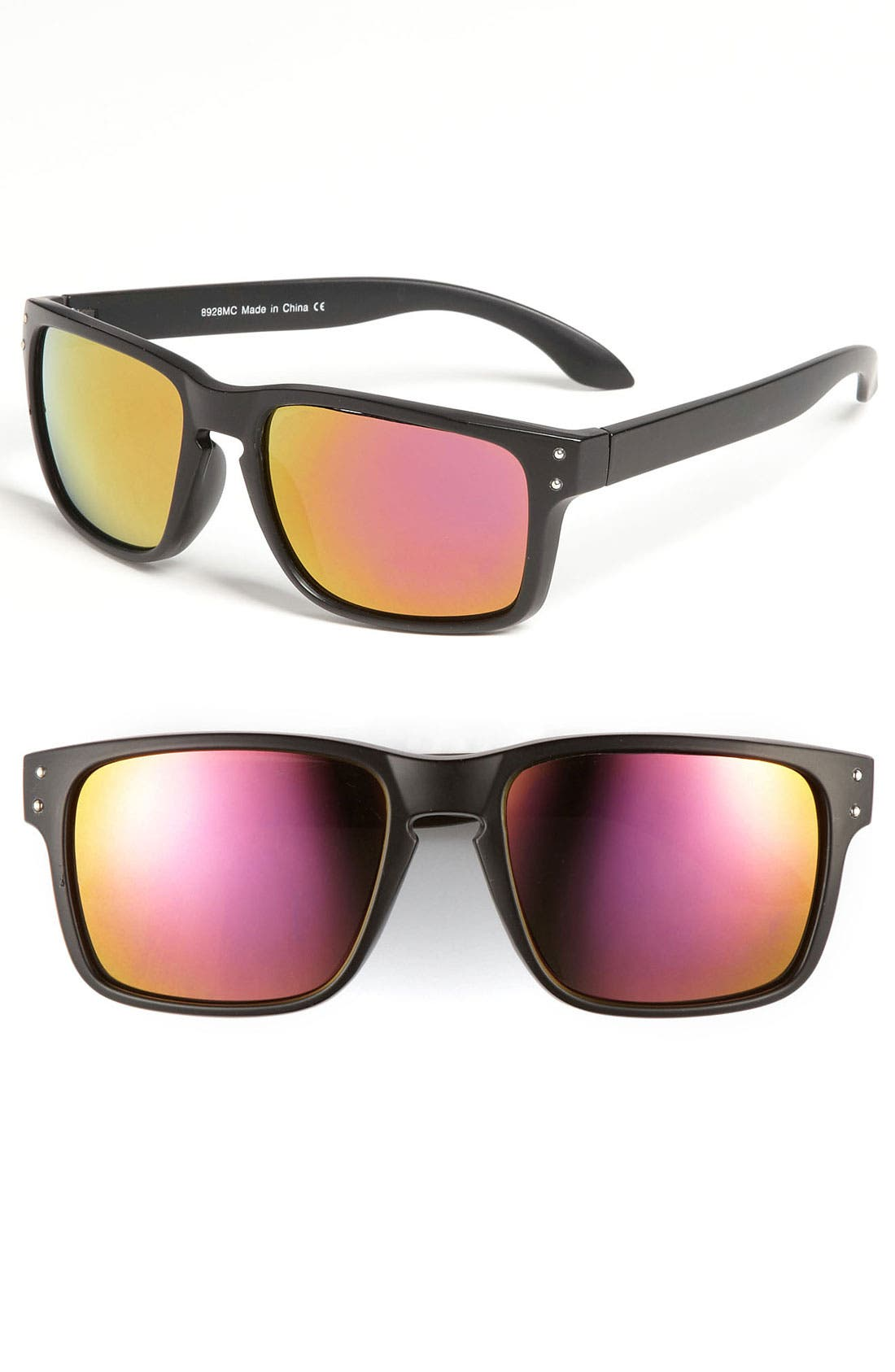 Main Image - KW 'Envoy' 55mm Mirrored Sunglasses