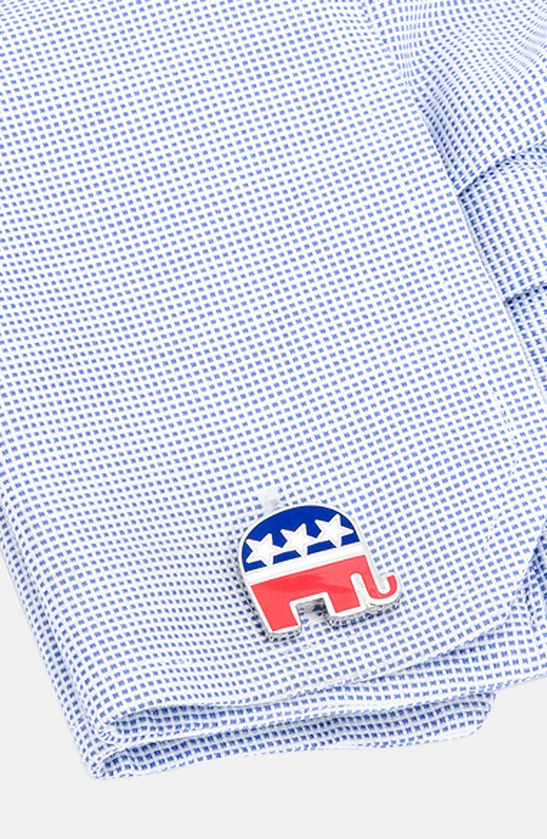 Alternate Image 2  - Cufflinks, Inc. 'Republican Elephant' Cuff Links