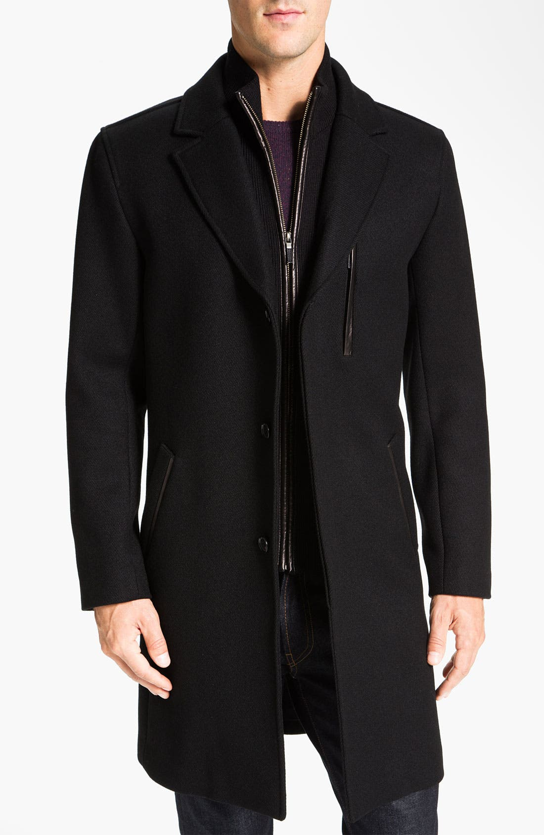 Alternate Image 1  - Cole Haan Wool Blend Overcoat