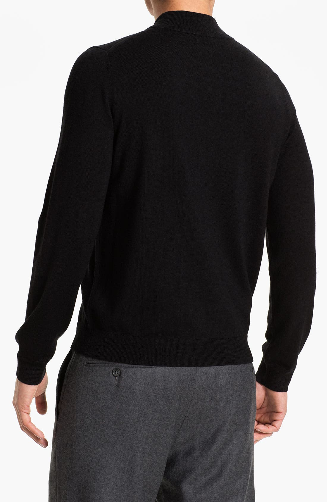 Alternate Image 2  - Nordstrom Mock Neck Merino Wool Sweater