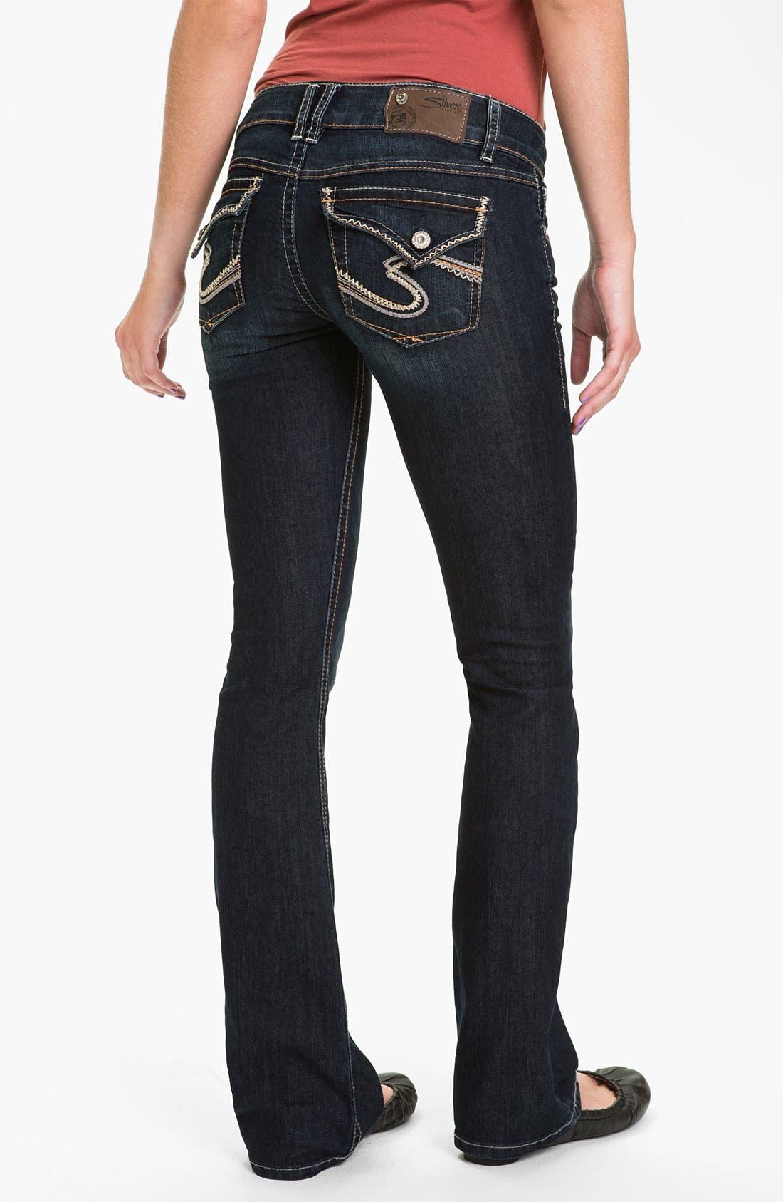Main Image - Silver Jeans Co. 'Dawson' Flare Leg Jeans (Juniors)