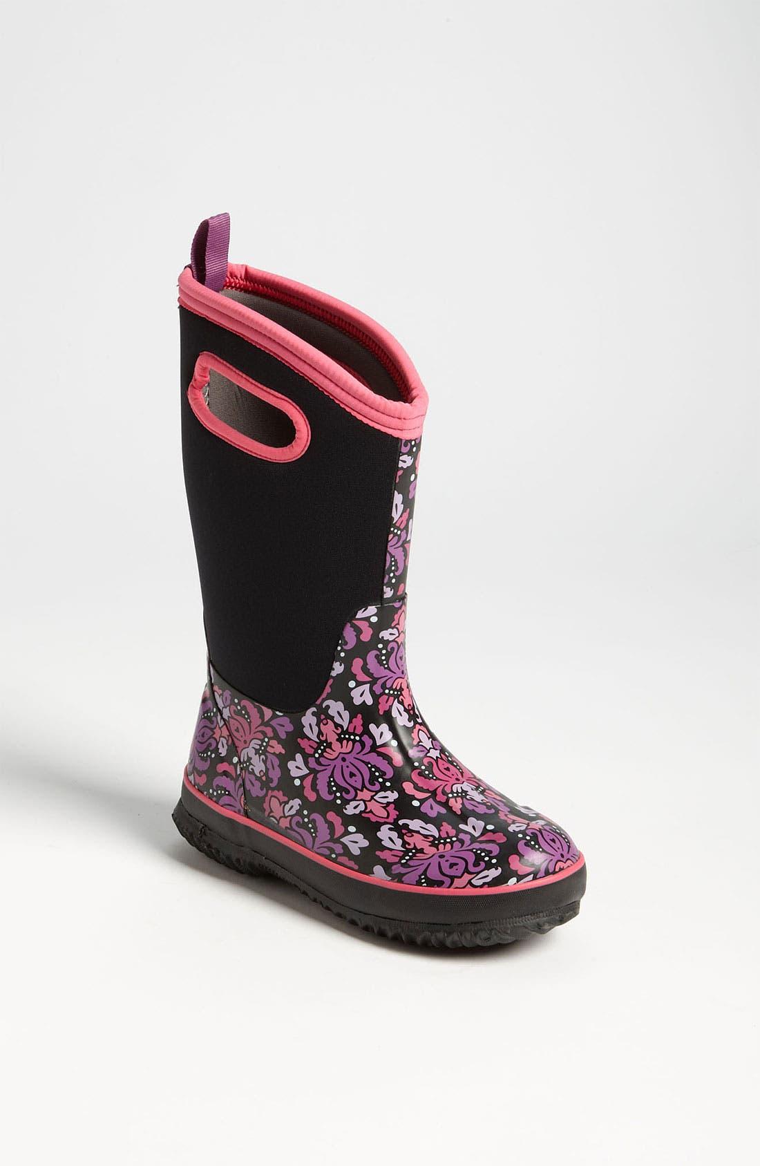 Main Image - Bogs 'Classic High - Fleur' Waterproof Boot (Toddler, Little Kid & Big Kid) (Nordstrom Exclusive)