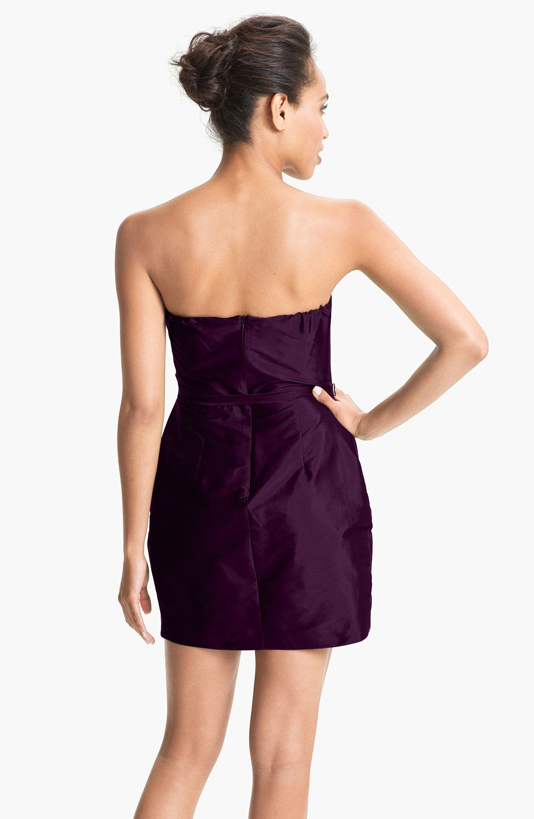 Alternate Image 2  - Alexia Admor Strapless Taffeta Tulip Dress