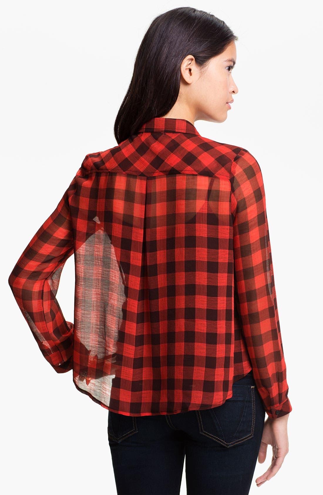 Alternate Image 2  - Elodie Buffalo Plaid Shirt (Juniors)