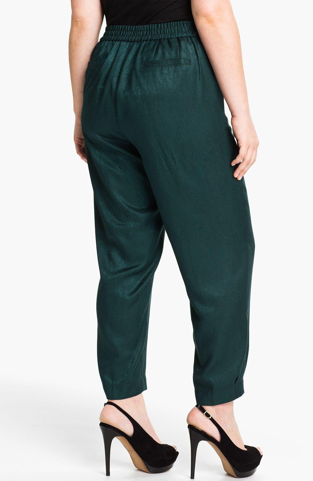 Alternate Image 2  - Sejour Slim Jacquard Pants (Plus)
