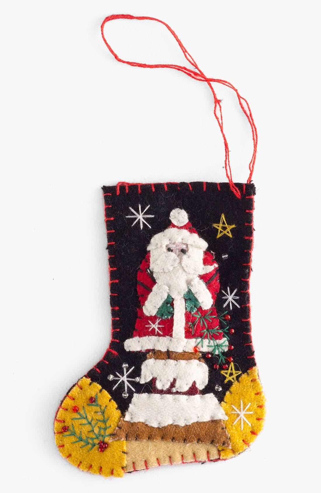 Alternate Image 1 Selected - New World Arts 'Santa on a Chimney' Stocking Ornament