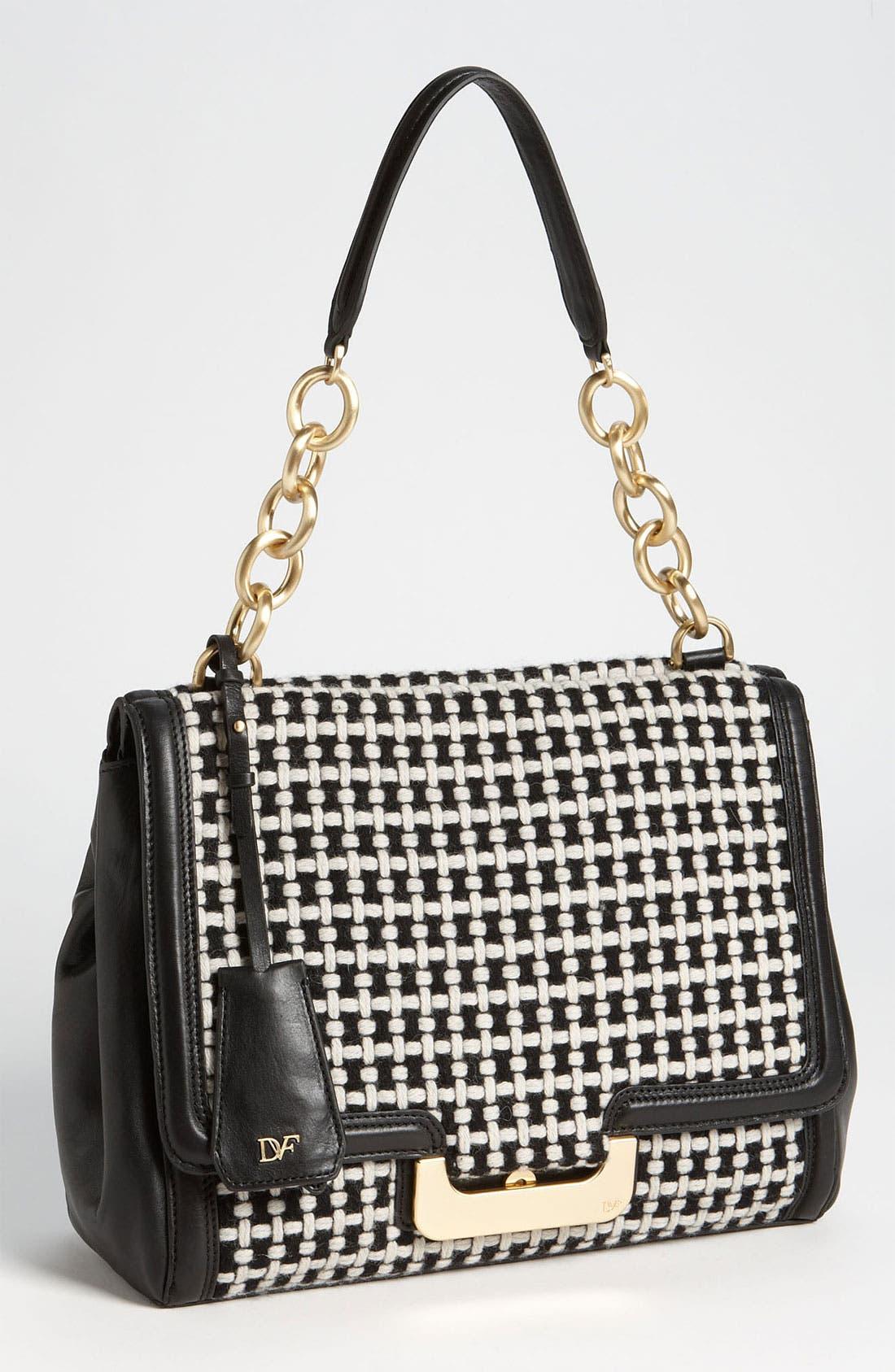 Alternate Image 1 Selected - Diane von Furstenberg 'New Harper' Check Wool  Shoulder Bag