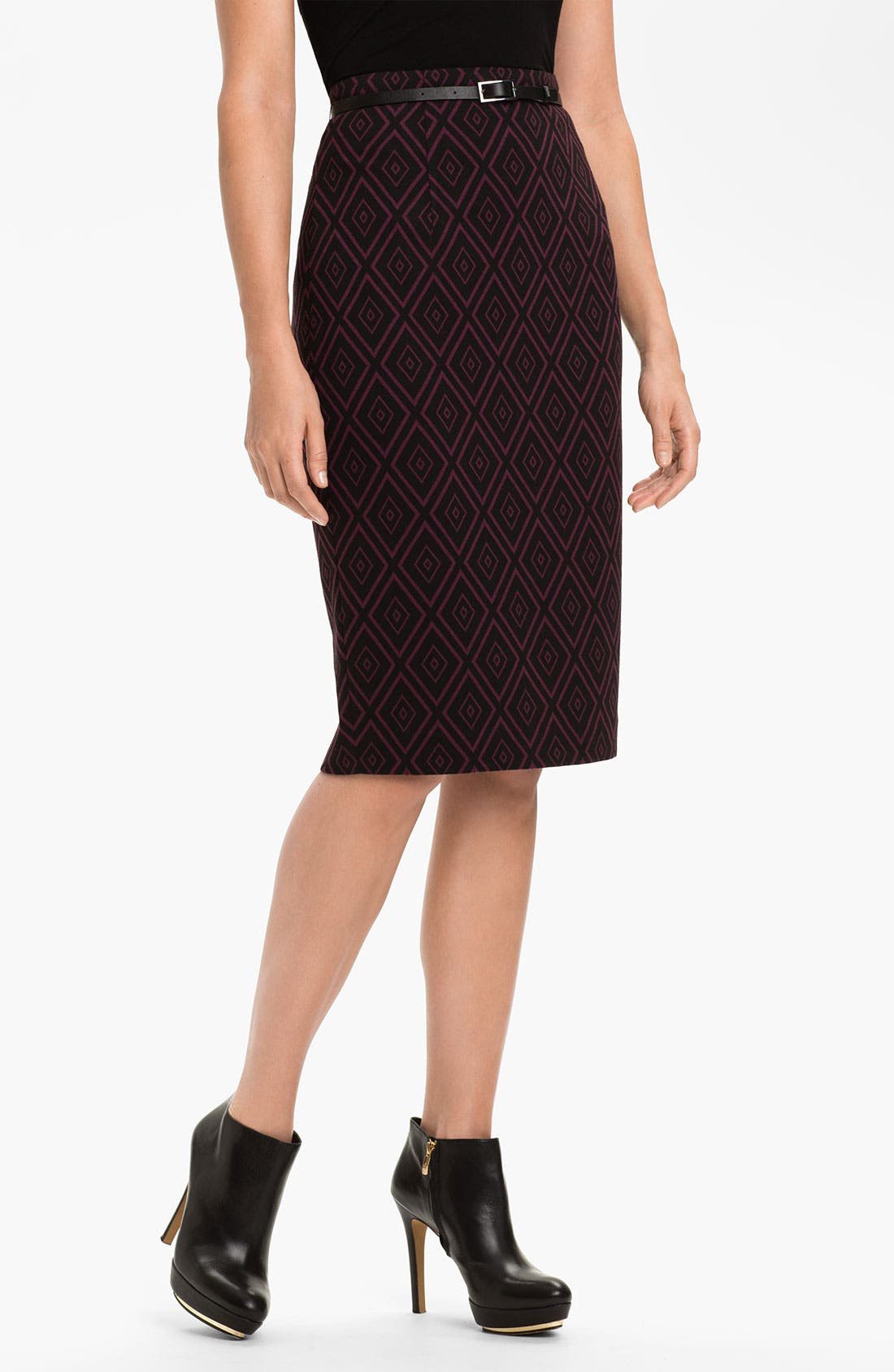 Main Image - Halogen® Belted Ponte Skirt