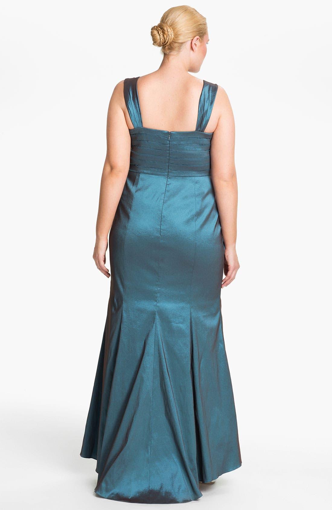 Alternate Image 2  - Adrianna Papell Taffeta Mermaid Gown & Bolero (Plus)
