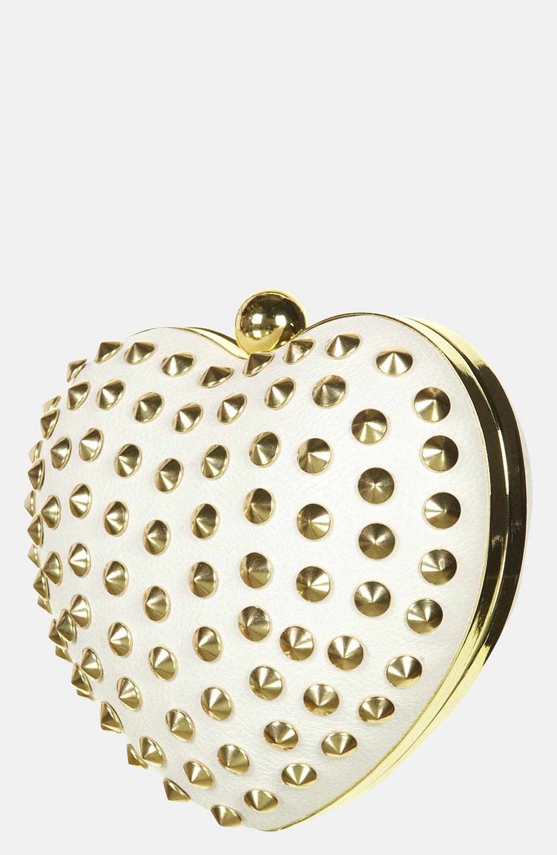 Main Image - Topshop Stud Heart Box Clutch