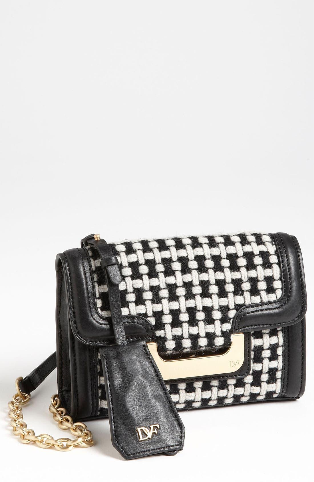 Main Image - Diane von Furstenberg 'New Harper - Charlie' Checkered Wool Crossbody Bag