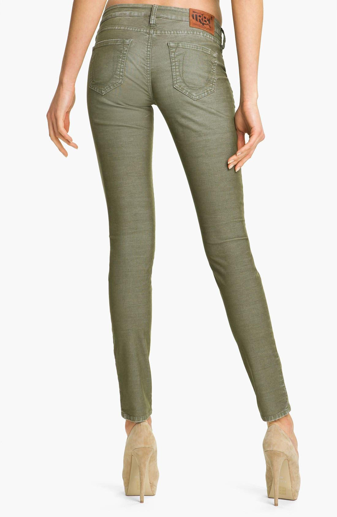 Alternate Image 1 Selected - True Religion Brand Jeans 'Shannon' Skinny Corduroy Pants