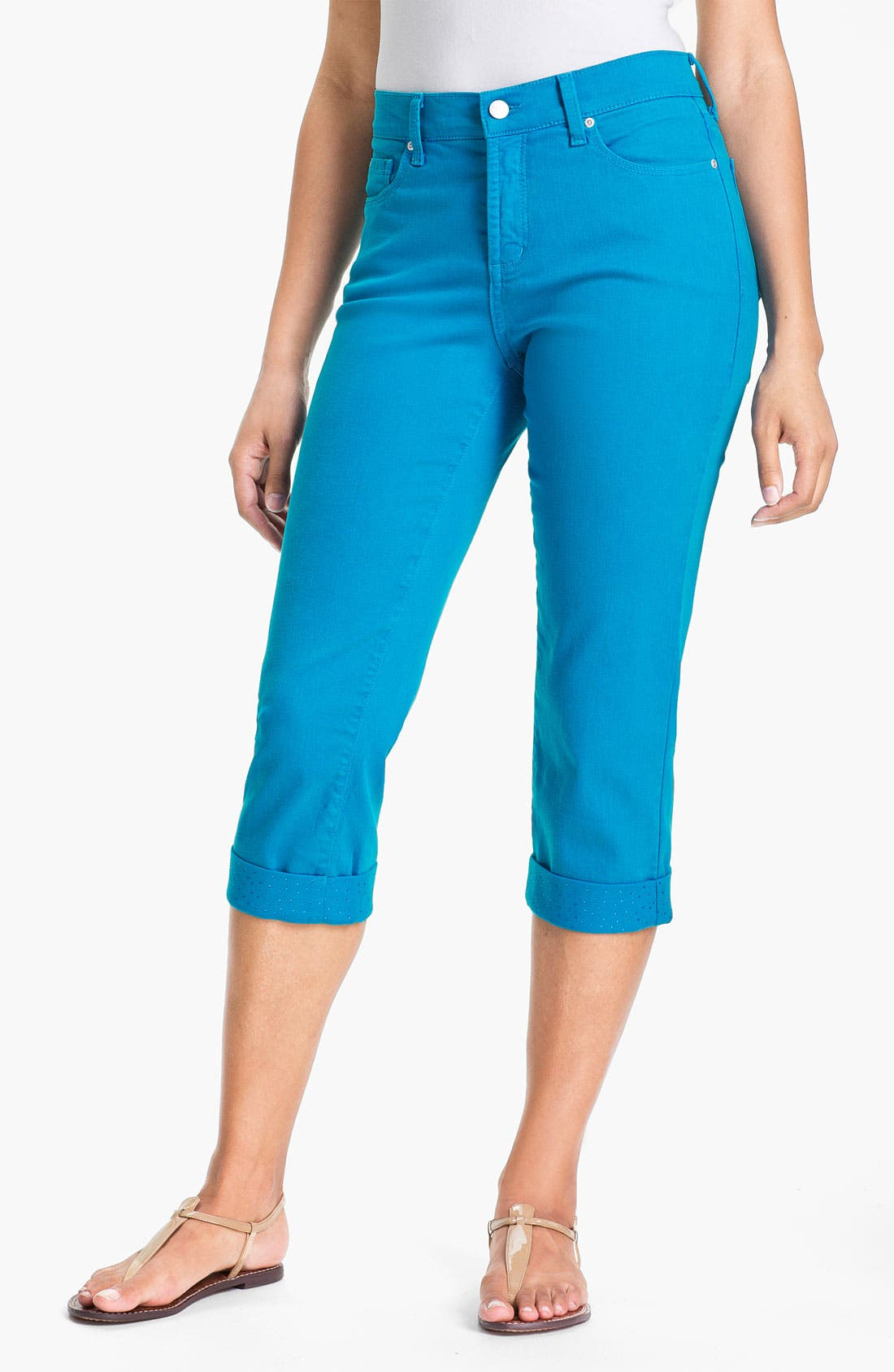 Alternate Image 1 Selected - NYDJ 'Alyssia' Embellished Crop Jeans