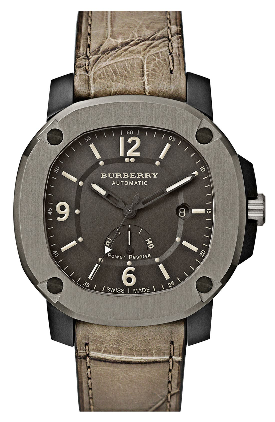 Main Image - Burberry The Britain Automatic Watch with Power Reserve