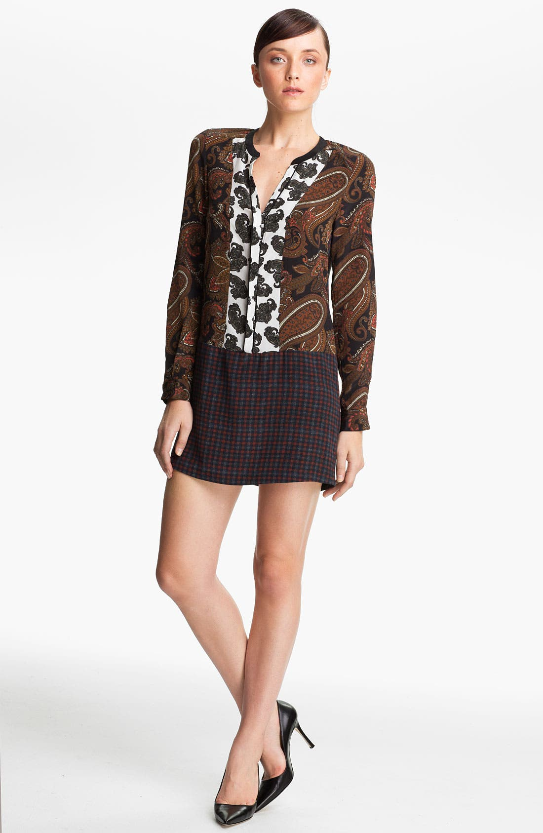 Alternate Image 1 Selected - A.L.C. 'Whitney' Print Silk Tunic Dress
