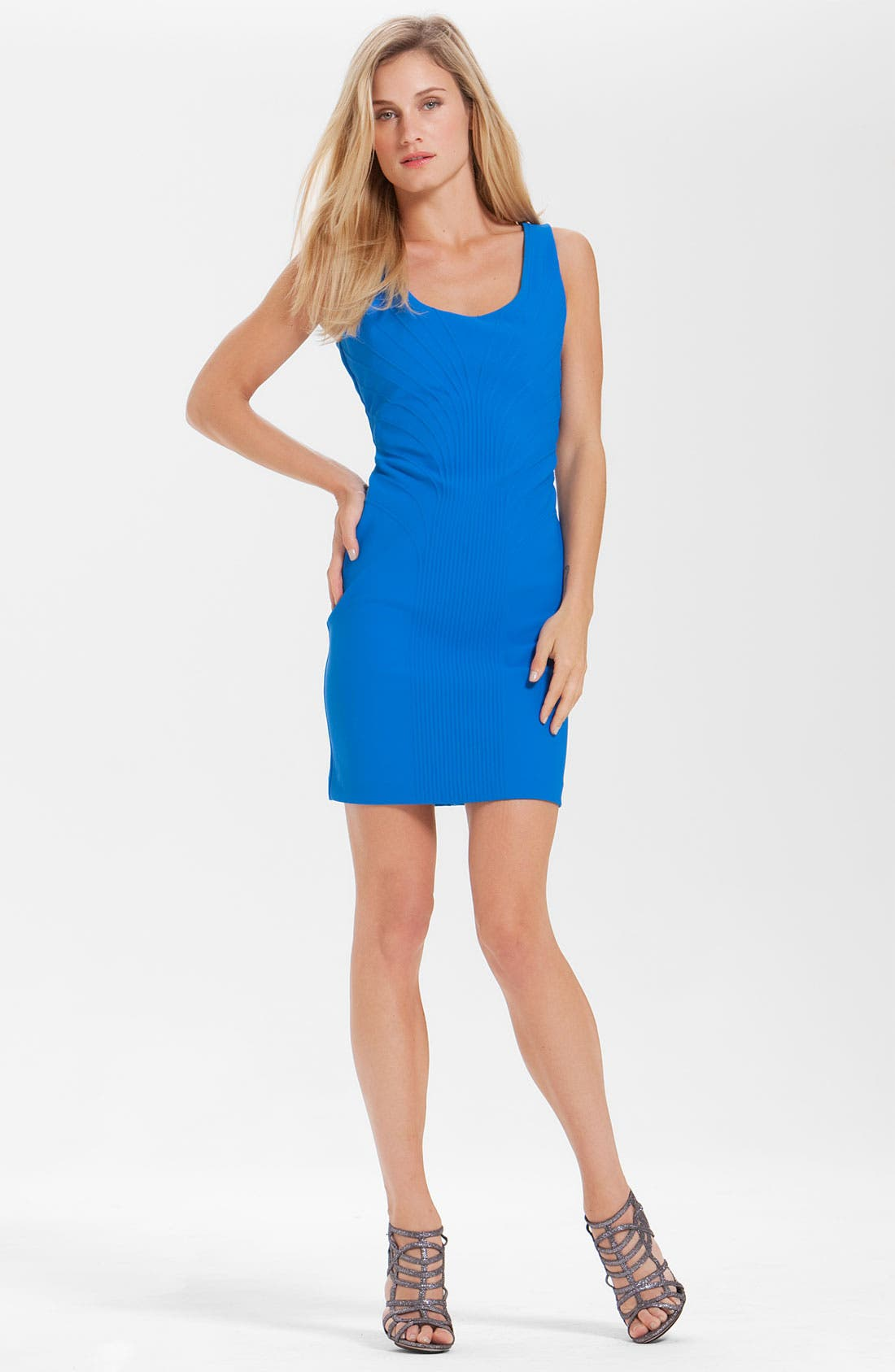 Alternate Image 1 Selected - Laundry by Shelli Segal Line Detail Jersey Sheath Dress