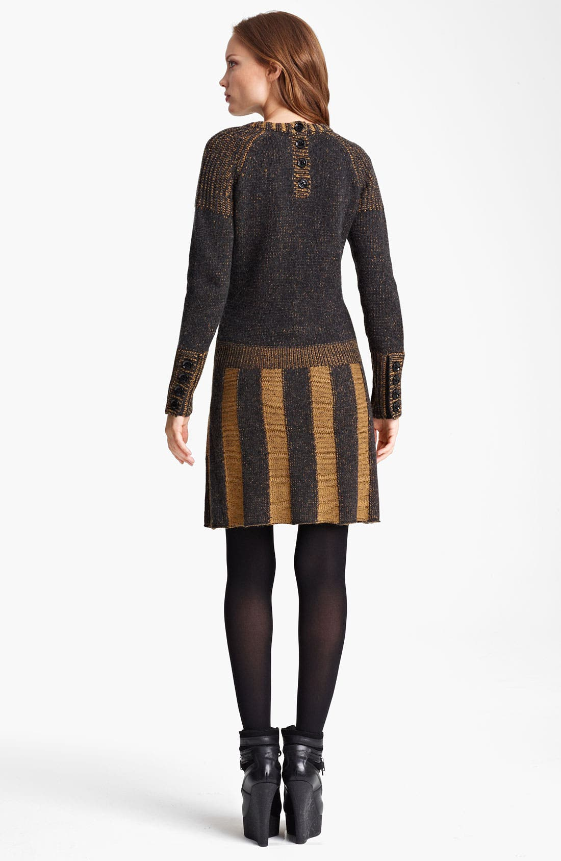 Alternate Image 2  - Burberry Brit Drop Waist Sweater Dress