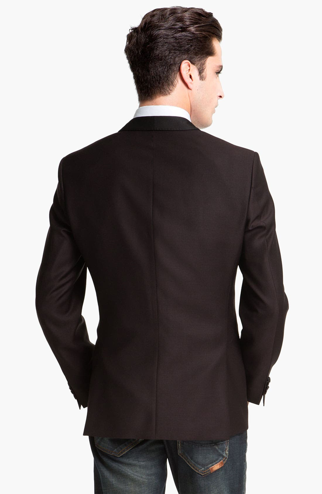 Alternate Image 2  - BOSS Black 'Hyatt' Shawl Lapel Dinner Jacket