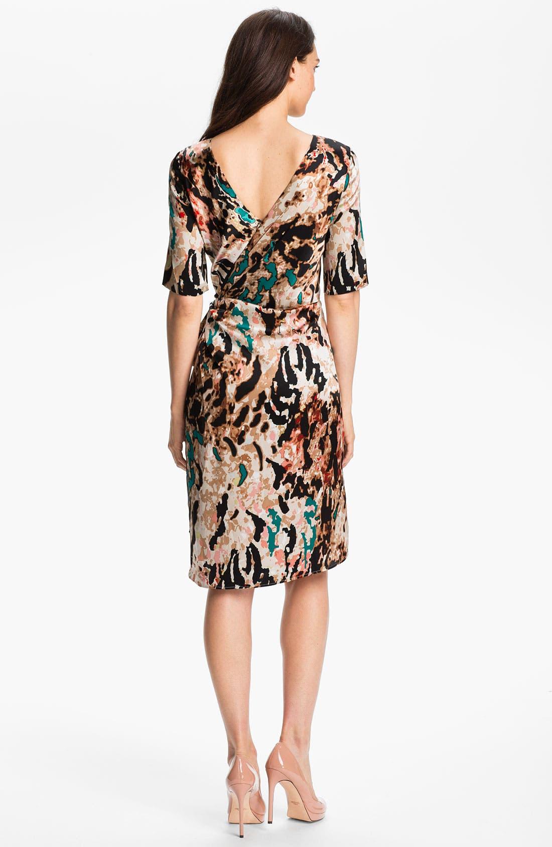 Alternate Image 2  - Rachel Roy 'Fragmented Landscape' Print Silk Dress