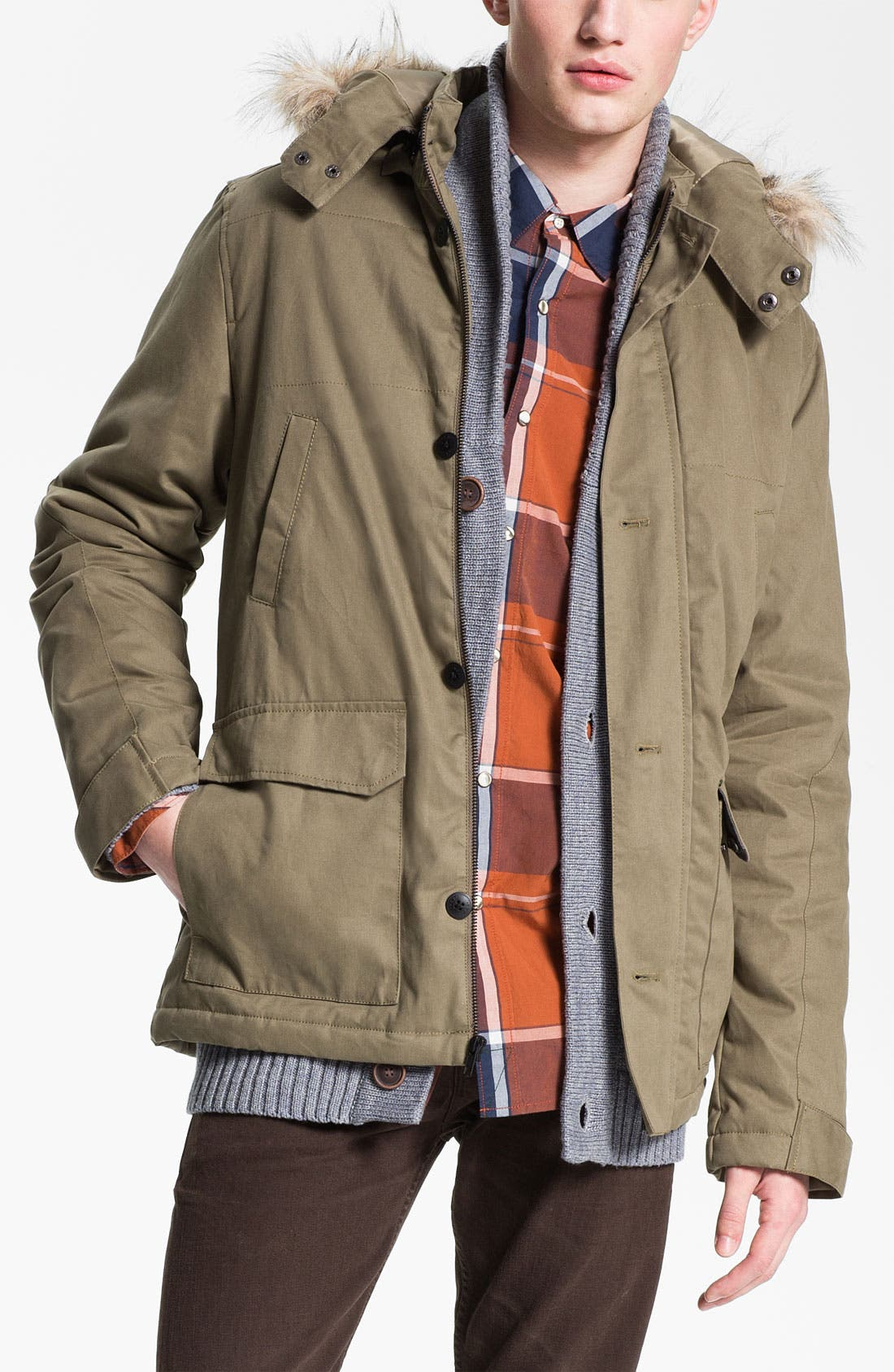 Alternate Image 1 Selected - R44 Rogan Standard Issue 'Travelers' Organic Cotton Parka