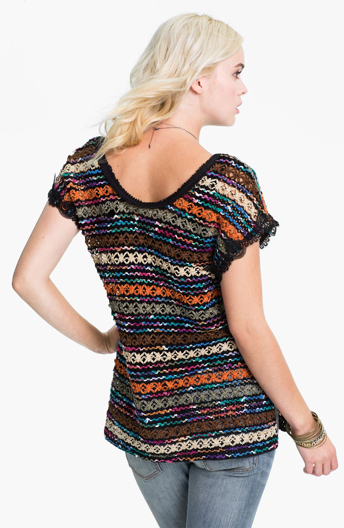 Alternate Image 2  - Free People Chenille Crochet Top