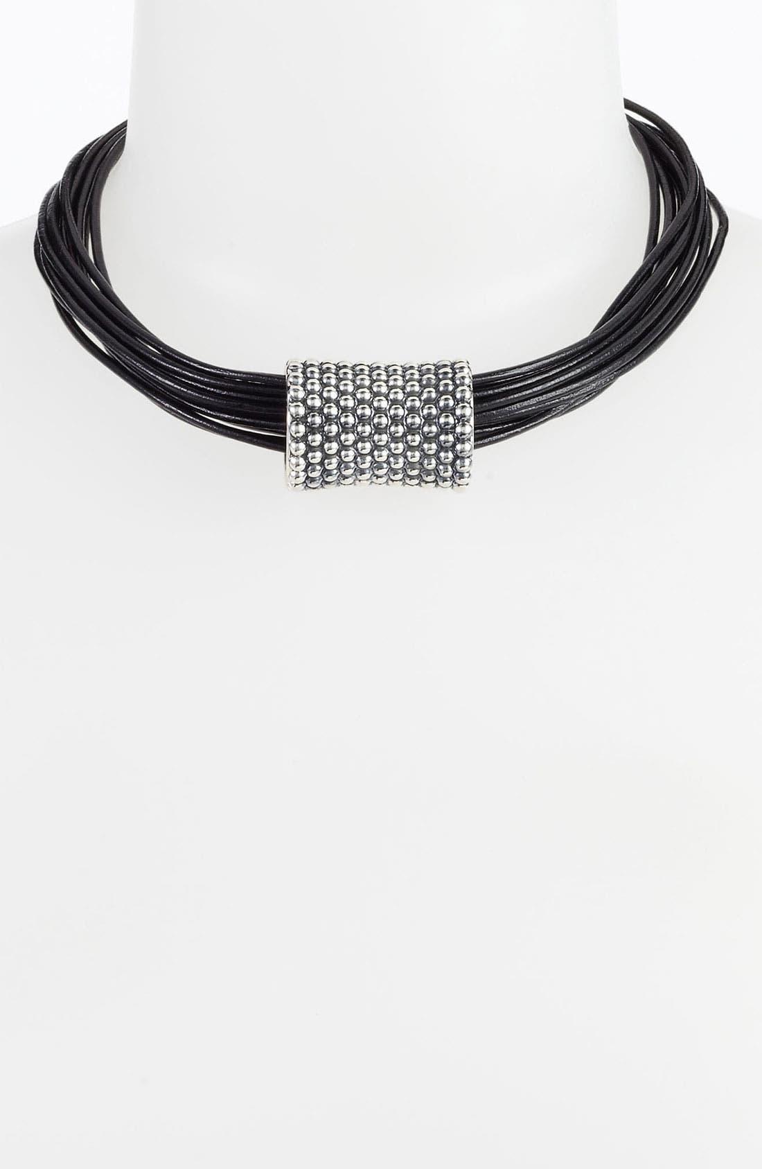 Alternate Image 1 Selected - Simon Sebbag 'Prosecco' Multistrand Leather Necklace