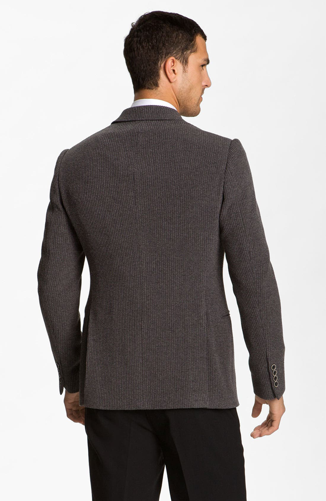 Alternate Image 2  - Armani Collezioni Trim Fit Knit Blazer