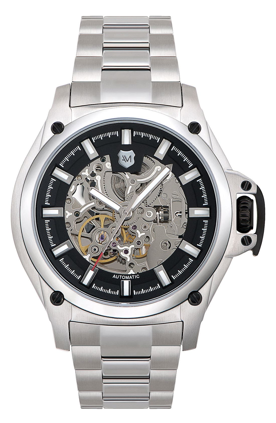 Alternate Image 1 Selected - Andrew Marc Watches 'G-III Pro' Automatic Bracelet Watch, 44mm