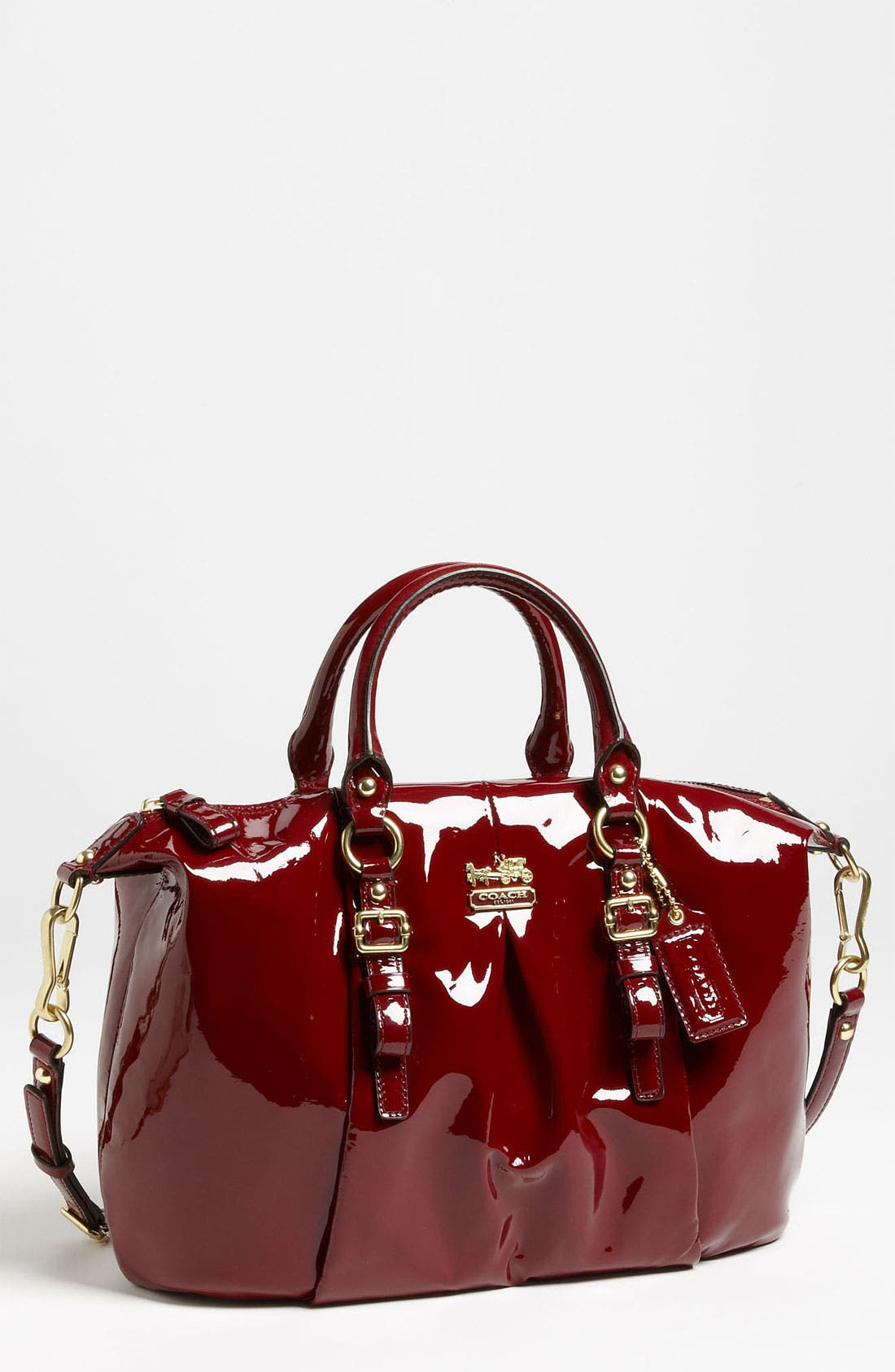 Main Image - COACH 'New Madison - Juliette' Patent Leather Satchel