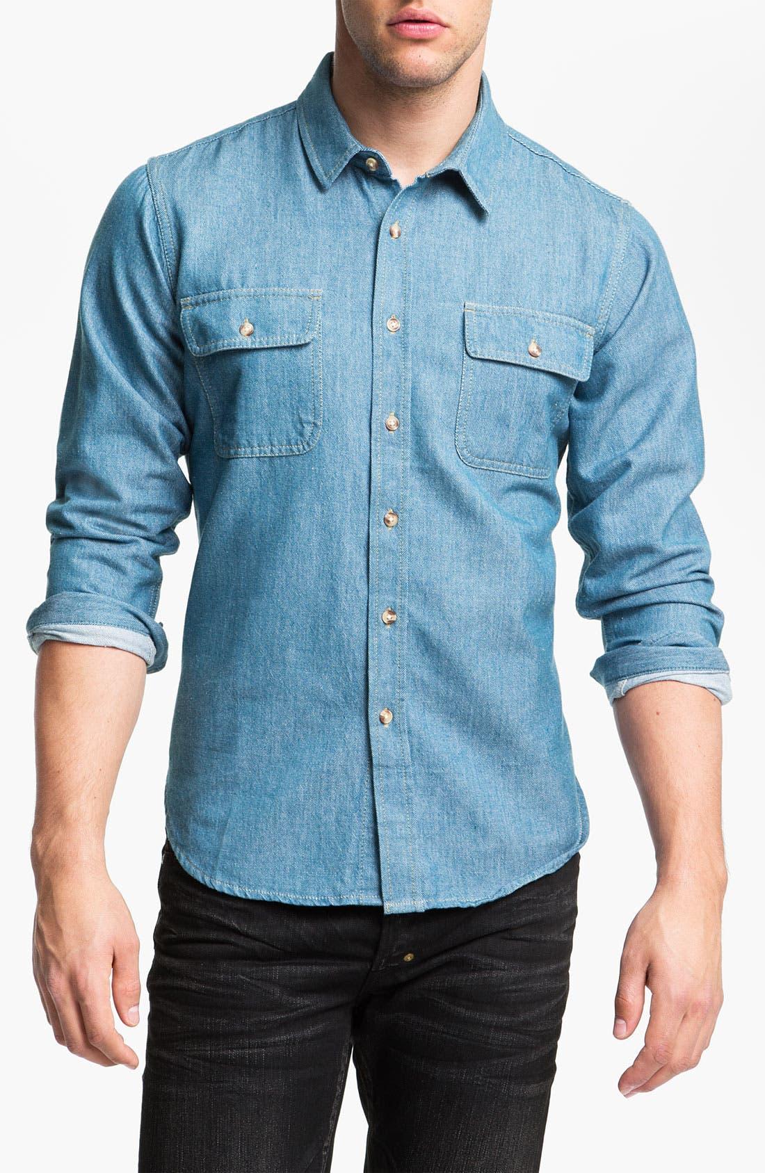 Main Image - Pendleton Coat, Obey Shirt & PRPS Slim Fit Jeans