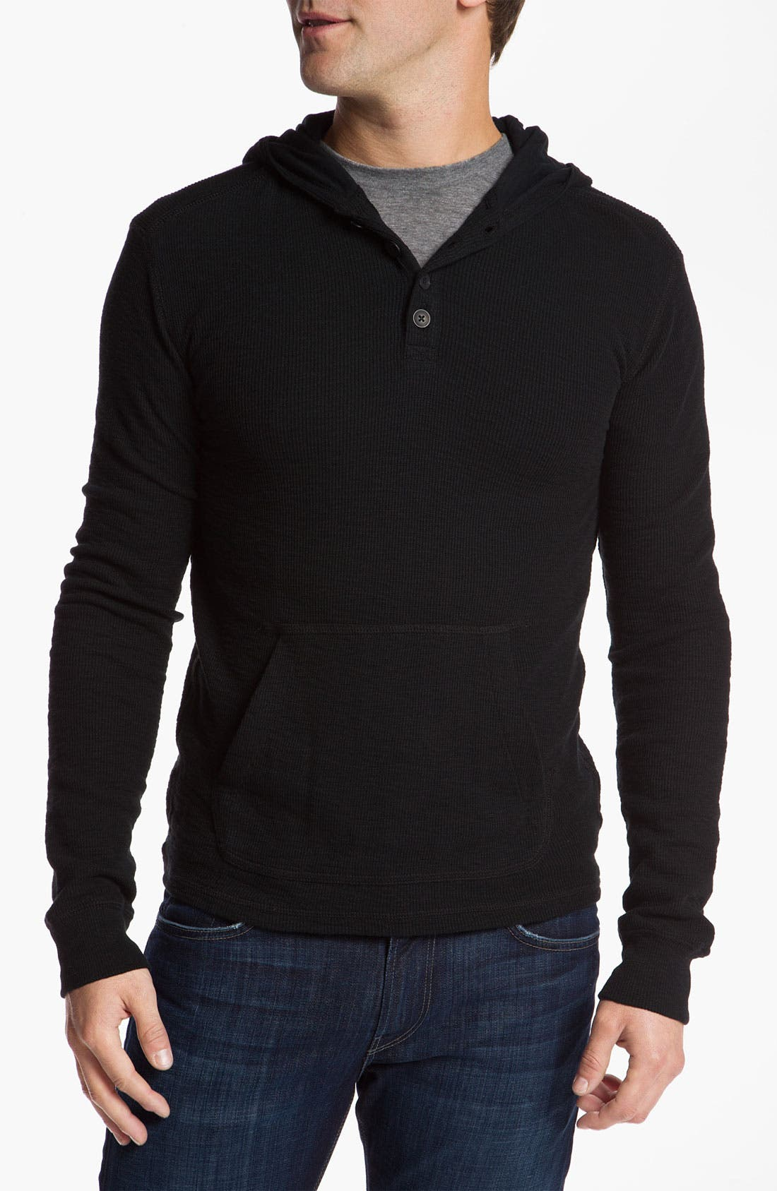 Main Image - 7 For All Mankind® Slubbed Thermal Hoodie