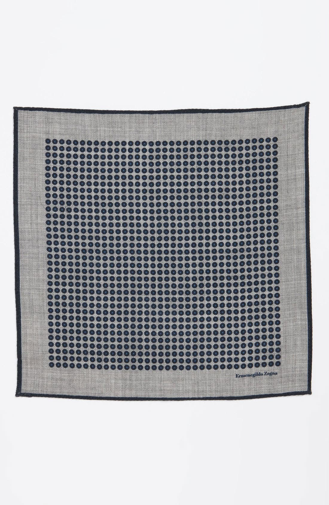 Alternate Image 2  - Ermenegildo Zegna Wool Pocket Square