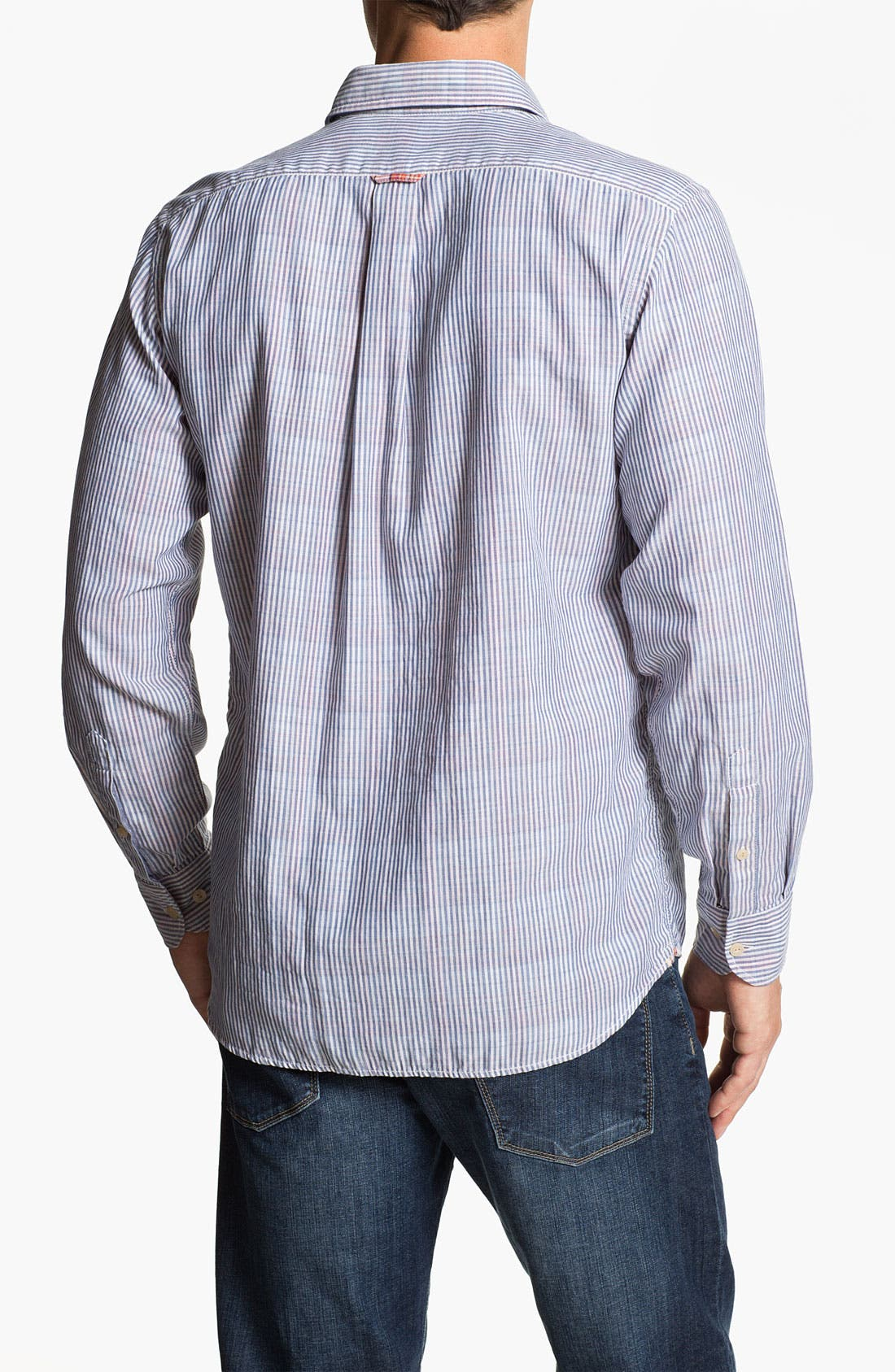 Alternate Image 2  - Façonnable Tailored Denim Regular Fit Sport Shirt