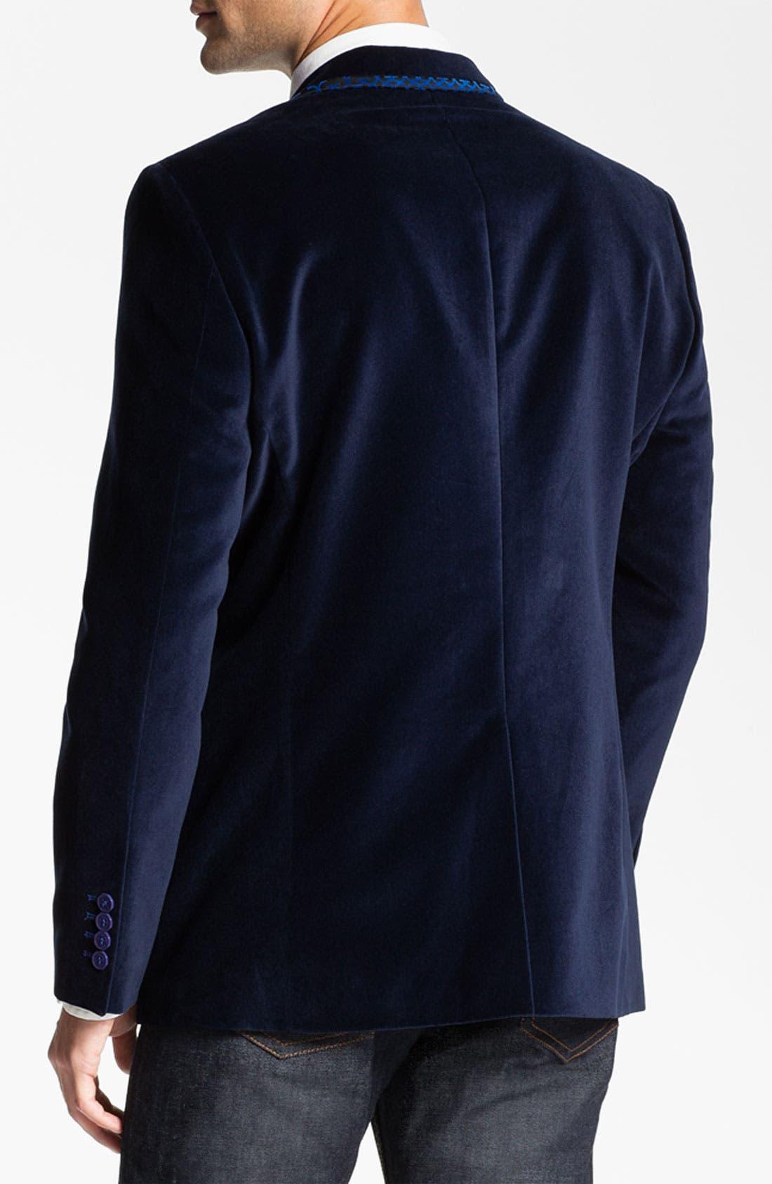 Alternate Image 2  - Bogosse 'Thomas' Velvet Blazer